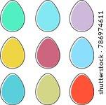 easter eggs. simple ...   Shutterstock .eps vector #786974611