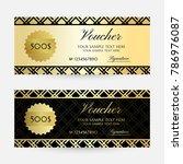 gold gride. gift vouchers... | Shutterstock .eps vector #786976087