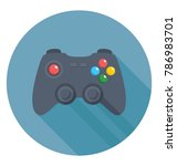 gamepad flat colored icon  | Shutterstock .eps vector #786983701