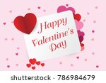 happy valentine day on card of... | Shutterstock .eps vector #786984679