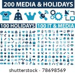 200 media   holidays icons ...