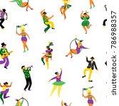 mardi gras. seamless pattern...   Shutterstock .eps vector #786988357