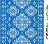 beautiful blue and white floral ...   Shutterstock .eps vector #786988369