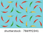 seamless pattern of red  green... | Shutterstock .eps vector #786992341