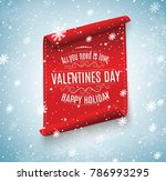 valentine's day.the red scroll... | Shutterstock .eps vector #786993295