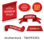 valentine's day.the red scroll... | Shutterstock .eps vector #786993301
