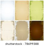 set of vector of old sheets of...