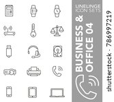 icon pack of business | Shutterstock .eps vector #786997219