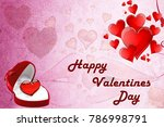 romantic red hearts background... | Shutterstock . vector #786998791