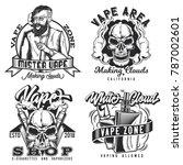 set of vintage vape emblems ...   Shutterstock .eps vector #787002601