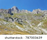Small photo of Clear blue skies over Albania's Accursed Mountains