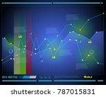 data analysis  visualization... | Shutterstock .eps vector #787015831