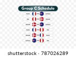 russia 2018. match schedule...   Shutterstock .eps vector #787026289