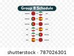 russia 2018. match schedule... | Shutterstock .eps vector #787026301