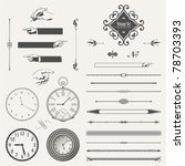 vector set  page decoration and ... | Shutterstock .eps vector #78703393