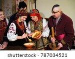 woman in ukrainian native dress ... | Shutterstock . vector #787034521