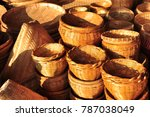 made baskets shop.there are... | Shutterstock . vector #787038049