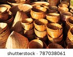 made baskets shop.there are... | Shutterstock . vector #787038061