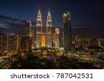 amazing kuala lumpur city  the... | Shutterstock . vector #787042531