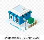 isometric high quality city... | Shutterstock .eps vector #787042621