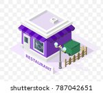 isometric high quality city... | Shutterstock .eps vector #787042651