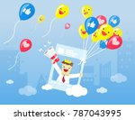 illustration vector cartoon... | Shutterstock .eps vector #787043995
