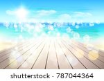 abstract view on the beach from ... | Shutterstock .eps vector #787044364