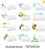 vector calendar for 2012 year... | Shutterstock .eps vector #78704524