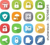 flat vector icon set   factory... | Shutterstock .eps vector #787048195