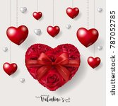 valentine's day greeting card... | Shutterstock .eps vector #787052785