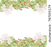 decorative floral frame with... | Shutterstock .eps vector #787055179