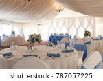 beautiful decorated table set... | Shutterstock . vector #787057225