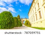 view of gardens near entrance... | Shutterstock . vector #787059751