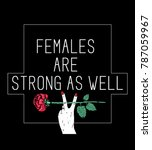 stylish trendy slogan tee t... | Shutterstock .eps vector #787059967