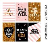 valentine's day stylish card... | Shutterstock .eps vector #787060465