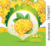 slices orange with leaf and... | Shutterstock .eps vector #78706057