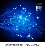 high tech vector background... | Shutterstock .eps vector #78706969