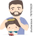 illustration of a father... | Shutterstock .eps vector #787070029