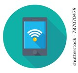 wifi hotspot flat colored icon  | Shutterstock .eps vector #787070479