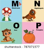 vector illustration of alphabet ... | Shutterstock .eps vector #787071577