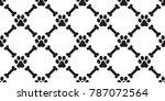dog paw seamless pattern dog... | Shutterstock .eps vector #787072564