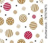 seamless pattern  polka dot... | Shutterstock .eps vector #787074871