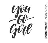 vector handdrawn feminism quote ... | Shutterstock .eps vector #787078714