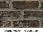 brick wall stone background  ... | Shutterstock . vector #787080889