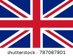 united kingdom flag | Shutterstock .eps vector #787087801