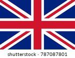 united kingdom flag | Shutterstock .eps vector #787087801