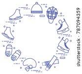 skates  gloves  hat  goalkeeper'