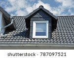 roof with dormer windows on a... | Shutterstock . vector #787097521