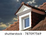 roof with dormer windows on a... | Shutterstock . vector #787097569