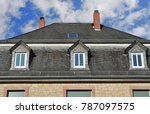 roof with dormer windows on a... | Shutterstock . vector #787097575